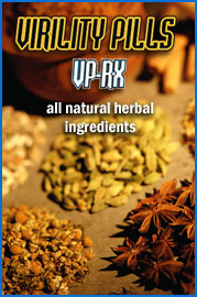 Virility Pills VP-RX all natural herbal ingredients.