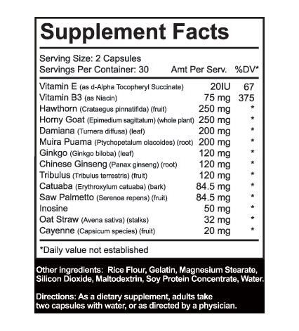 VP-RX Ingredients